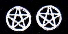 Ohrstecker Pentagramm im Kreis