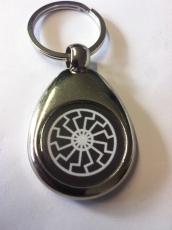 Schwarze Sonne - Schlüsselanhänger aus Metall