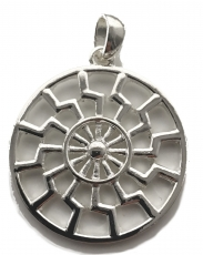 Schwarze Sonne - Sonnenrad (Kettenanhänger in Silber)