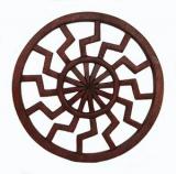 Schwarze Sonne klein (Holz Wandschmuck)