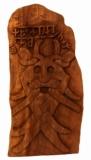 Odins Maske Runenstein (Holz Wandschmuck)