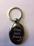 Odin statt Jesus Schlüsselanhänger aus Metall