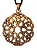 Amena - Keltische Herzen (Kettenanhänger in Bronze)