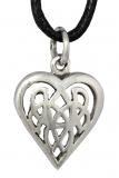 Amina – keltisches Herz (Kettenanhänger in Silber)