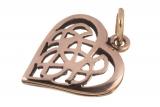 Amina – keltisches Herz (Kettenanhänger in Bronze)