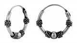 Kalina - Hoops silver ball (earrings in silver)