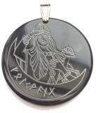 Amulett Freyja (Kettenanhänger aus Horn)