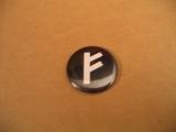 Fehu Rune (Button)