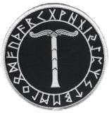 Irminsul im Runenkreis (Aufnäher)