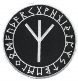 Algiz im Runenkreis (Aufnäher)